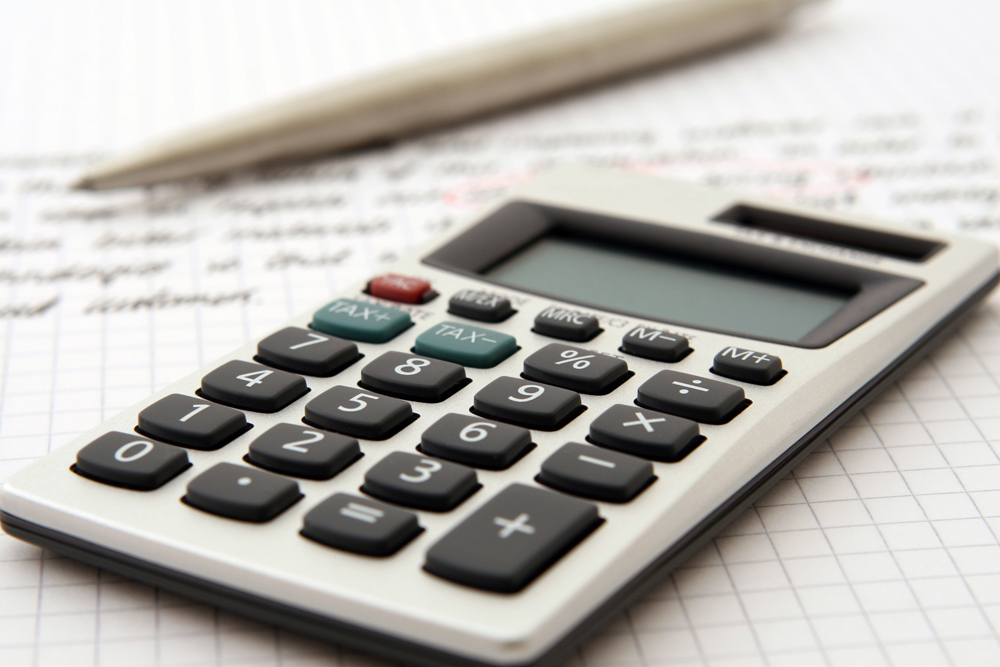 image showing a calculator